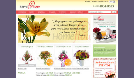 Home Flowers - Flores Online